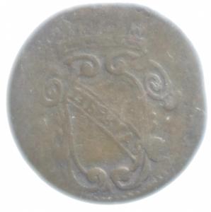 reverse: Zecche Italiane.Lucca. Repubblica (1369-1799) Panterino 1691. D/ Stemma della citt. R/ pantera tiene scudo. MI, 0.66gr. CNI 728. BB