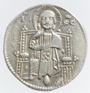 reverse: Zecche Italiane.Venezia. Iacopo Tiepolo (1275-1280) Grosso. D/ Il Doge e San Marco. R/ Redentore in trono. Paolucci 1. Biaggi 2783. AG, 2.20 gr. BB+