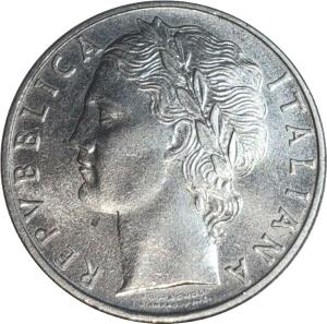 reverse: Repubblica Italiana. 100 Lire 1958 FDC. Periziata Esposito. rf