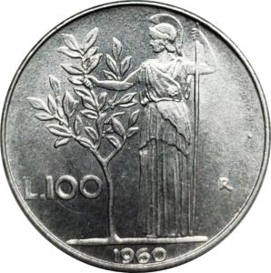 obverse: Repubblica Italiana. 100 Lire 1961 ottimo qFDC. rf