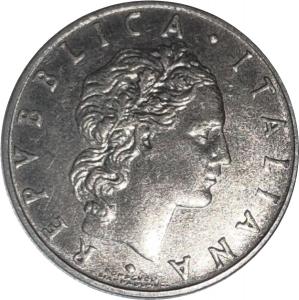 reverse: Repubblica Italiana. 50 lire 1957. FDC. Periziata Esposito con la nota segni di contatto. rf