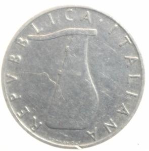 reverse: Repubblica Italiana. 5 Lire 1956. Buon BB. RR