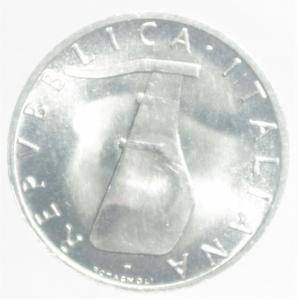 reverse: Repubblica Italiana. 5 Lire 1969 .qSPL.NC
