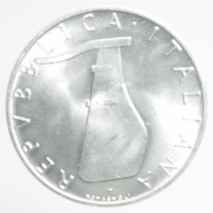 obverse: Repubblica Italiana. 5 Lire 1967.FDC.