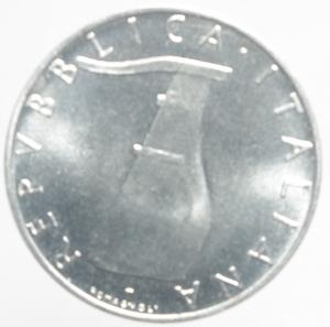 reverse: Repubblica Italiana. 5 Lire 1972.FDC.