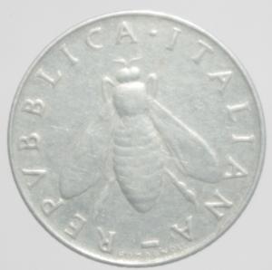 reverse: Repubblica Italiana. 2 Lire 1958.BB\BB+.RR