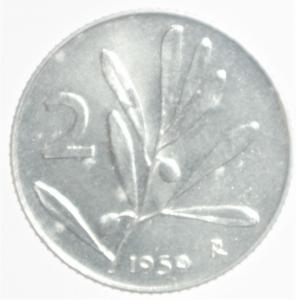 obverse: Repubblica Italiana. 2 Lire 1959. FDC.