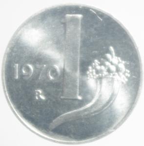 obverse: Repubblica Italiana. Lira 1970. FDC.