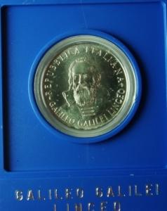 obverse: Repubblica Italiana. 500 Lire. Galileo Galilei 1982. FDC.