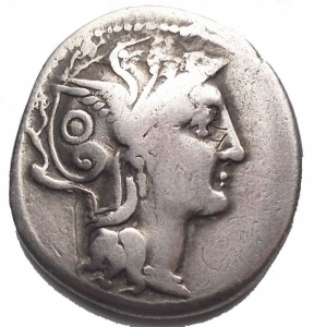 obverse: Varie - C. Claudius Pulcher AR Denarius. 110-109 BC. Helmeted head of Roma right / Victory in biga right, C. PVLCHER in exergue. RSC 1; Sydenham 569; Crawford 300/1. 3.73 g. 17,73 x 19,29 mm. aVF