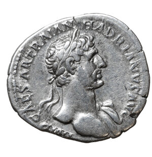obverse: HADRIAN (117-183). Denarius. Rome. 3.45 gr. – 19.2 mm. O:\ IMP CAESAR TRAIAN HADRIANVS AVG. Laureate bust right, slight drapery on left shoulder. R:\ P M TR P COS II / PIETAS. Pietas veiled standing left raising right hand. RIC 45. UNC