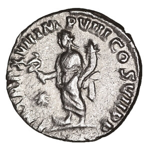 reverse: Commodus. 177-192 AD. AR denarius. 3.30 gr. – 16.8 mm. Rome mint, struck A.D. 192. O:\ L AEL AVREL COMM AVG P FEL, laureate head right. R:\ P M TR P XVII IMP VIII COS VII P P, Fides standing left, holding standard and cornucopia, star left. RIC 233; BMCRE 317; RSC 583a. Scarce. XF
