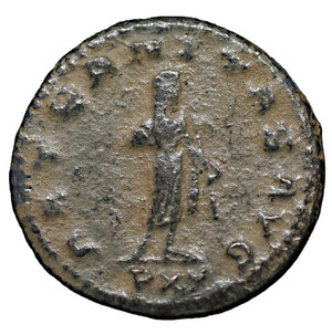 reverse: Gallienus. 253-268 AD. Billon Antoninianus. Mint of Asia. 3.60 gr. – 20.12 mm. O:\ GALLIENVS AVG, radiate, draped bust right. R:\ AETERNITAS AVG, Saturn standing right, holding scythe, PXV (short for TR P XV) in ex. Cohen 44; Sear 10170. VF\XF