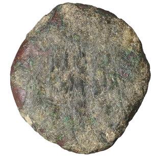 reverse: Porcius Festus. 59-62 C.E. Æ prutah. 2.85 gr. - 18.2 mm. Procurator under Nero, Year 5 = 58/59 CE. O:\ NEPWNOC, legend within wreath, bottom tied with X. R:\ LE KAICAPOC, palm branch. Hendin 1351; Meshorer TJC 345; RPC 4972. VF+