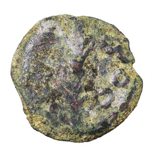 obverse: Judaea. Procurators. Porcius Festus under Nero. 59-62 AD. Prutah. (dated year 5 =58/59 AD). 2,20 gr. - 16,42 mm. O:\ NEP WNO C (of Nero); within wreath, bottom tied with X. R:\ LE KAICAPOC; Palm branch.. VF. Hendin 1351