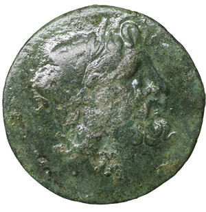 obverse: Bruttium, The Brettii. 216-214 BC. Unit or Drachm. 7.63 gr. – 21.8 mm. O.\ Laureate head of Zeus right. R:\ Eagle left; BRET-TIWN. Rutter HN 1942. VF\XF