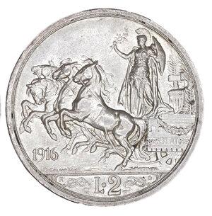 reverse: Regno d Italia. Vittorio Emanuele III. 2 Lire 1916. qFDC