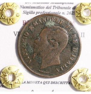 obverse: VITTORIO EMANUELE II. 5 CENTESIMI 1861 MILANO. BB