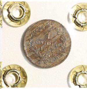 reverse: VITTORIO EMANUELE II. 1 CENT 1867 BB+