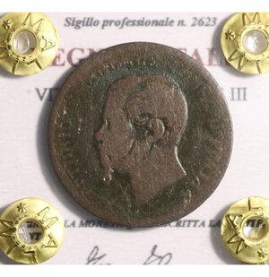 obverse: VITTORIO EMANUELE II. 5 cent 1862 N. BB