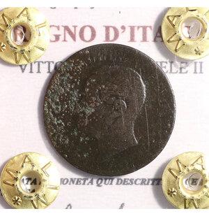 obverse: VITTORIO EMANUELE II. 2 CENT 1867 BB
