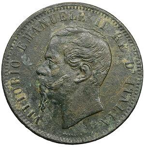 obverse: Vittorio Emanuele II. 10 Centesimi 1867 T. BB. Periziato