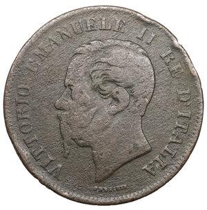 obverse: Vittorio Emanuele II. 5 Centesimi 1862 N. MB. Periziato