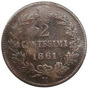reverse: Vittorio Emanuele II. 2 Centesimi 1861 M. BB. Periziato