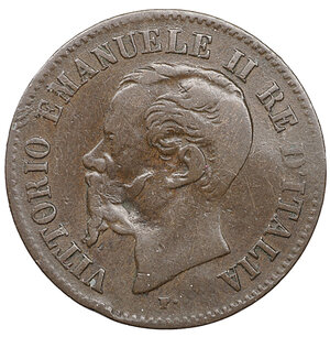 obverse: Vittorio Emanuele II. 2 Centesimi 1867 M. MB. Periziato