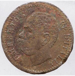 obverse: Umberto I. 1 centesimo. 1895. BB