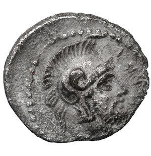 obverse: CILICIA. Tarsos. Tarkumuwa (Datames), satrap of Cilicia and Cappadocia, 384-361/0 BC. Obol. 10 mm. 0,72 g. O:\ Diademed head of Aphrodite right. r:\ Helmeted head of Ares right. Göktürk S. 145, 25; SNG Paris 278. XF