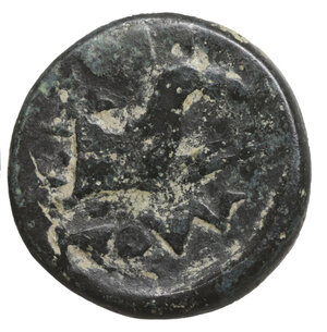 reverse: IONIA. Kolophon?. Ae Uncertain. 350. O:\ Laureate head of Apollo right. R:\ Forepart of bridled horse right. BMC 20 var. VF+