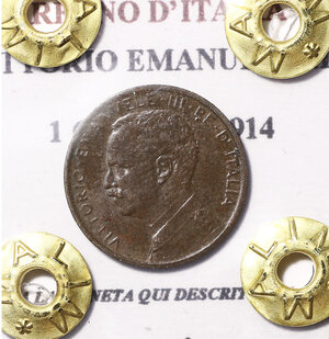 obverse: VITTORIO EMANUELE III. 1 cent 1914 spl