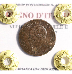 obverse: VITTORIO EMANUELE II. 1 cent 1867 Milano BB. PERIZIATA
