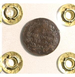reverse: VITTORIO EMANUELE II. 1 cent 1867 Milano BB. PERIZIATA