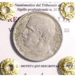 obverse: VITTORIO EMANUELE III. 50 cent 1920 rigato. BB