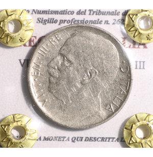 obverse: VITTORIO EMANUELE III. 50 cent 1925 rigato. BB+