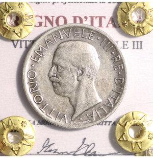 obverse: VITTORIO EMANUELE III. 5 LIRE 1927 SPL