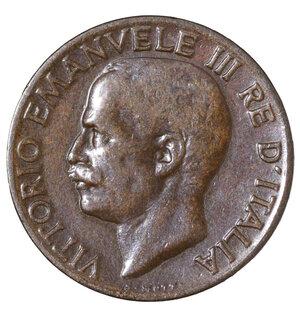 obverse: VITTORIO EMANUELE III°. 5 CENTESIMI 1934. SPIGA. QFDC. PERIZIATA