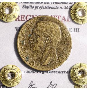 obverse: VITTORIO EMANUELE III. 10 CENT 1939 BB