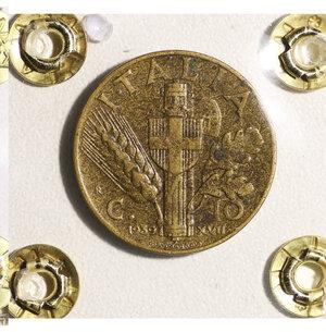 reverse: VITTORIO EMANUELE III. 10 CENT 1939 BB