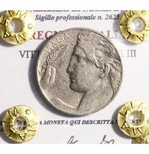 obverse: VITTORIO EMANUELE III. 20 CENT 1921 SPL+