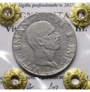 obverse: Vittorio Emanuele III. 50 Cent 1940 AN XVIII. SPL. PERIZIATA