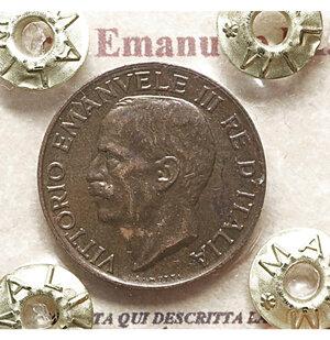obverse: Vittorio Emanuele III. 5 Cent. 1926. SPL+ PERIZIATA