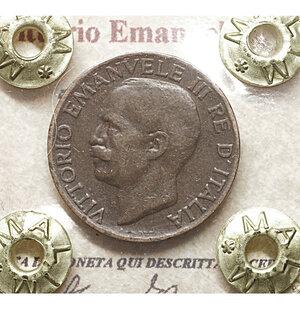 obverse: Vittorio Emanuele III. 5 Cent. 1927. qSPL PERIZIATA