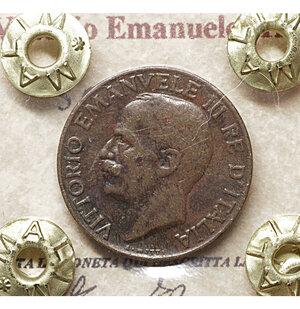 obverse: Vittorio Emanuele III. 5 Cent. 1934. qSPL PERIZIATA