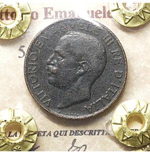 obverse: Vittorio Emanuele III. 5 Cent. 1921. BB. PERIZIATA