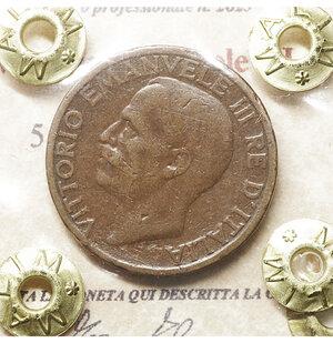 obverse: Vittorio Emanuele III. 5 Centesimi 1921. BB. Periziata