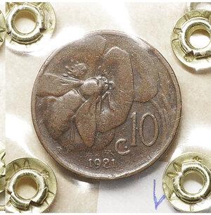 reverse: Vittorio Emanuele III. 5 Centesimi 1921. BB. Periziata