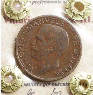 obverse: Vittorio Emanuele III. 5 Centesimi 1921. BB\SPL. Periziata